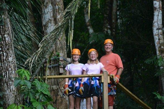 Cavetubing with Major Tom: Zip lining in Belize