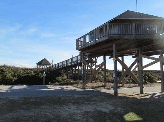 Barrier Island Station - Duck: Walkway over dunes to beach