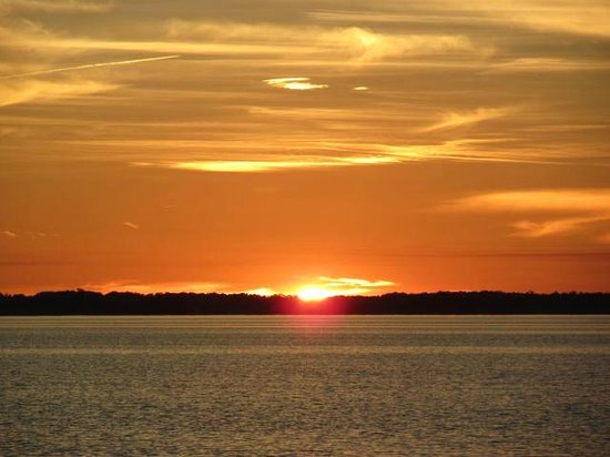 Barrier Island Station - Duck : Sunset over the Sound