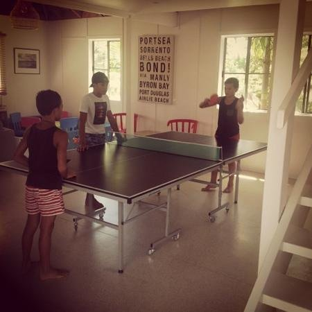The Oasis Resort & Treetop Houses: The Games room