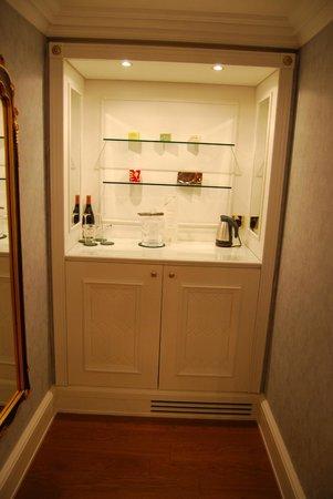 Mini fridge inside the cabinet - Picture of Powerscourt Hotel ...