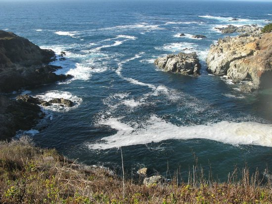 Big Sur Lodge: Ocean shore.