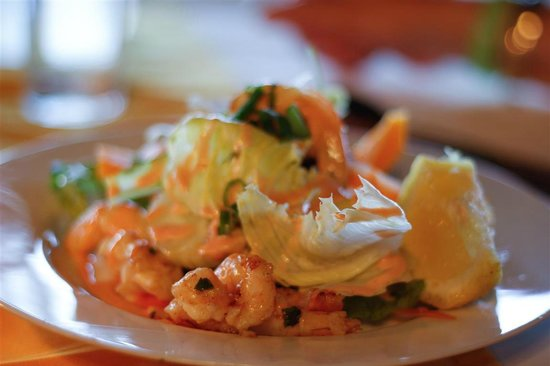 Le Lagoto Resort & Spa : Shrimp Salad.