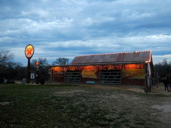 River Road Ranch Resort: The barn at dusk