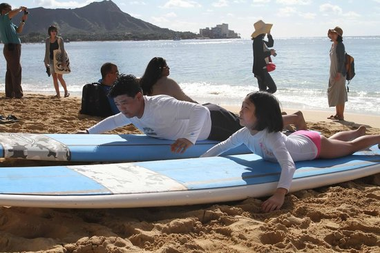 Gone Surfing Hawaii: Our beach lesson