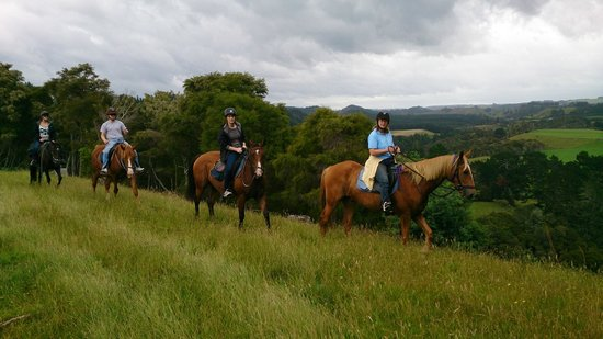 Briars Horse Trek: The view over the farm and valley