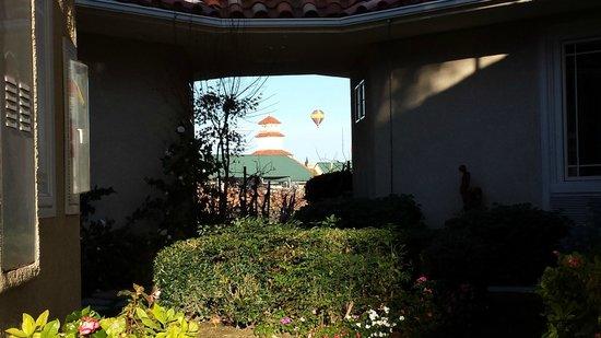 South Coast Winery Resort & Spa: Hotair balloon over the South Coast Resort Hotel