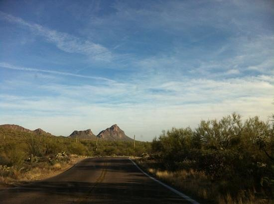 Road into Old Tucson.