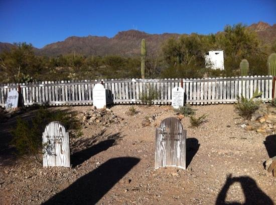 Old Tucson: Town graveyard.....lots of funny gravestones :)
