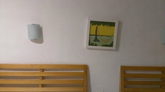 Sotavento Hotel & Yacht Club: crooked lights and pictures that were put by a 5 years old
