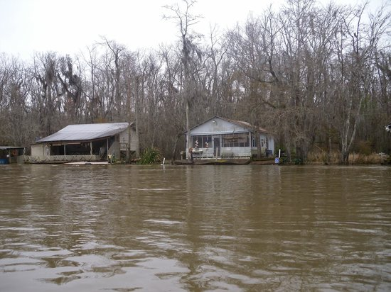 Cajun Encounters: Homes along the river.