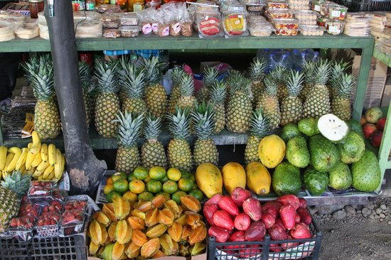 Go Tours Costa Rica - Day Tours : Tropical Fruit Stand - guanabana( Soursop) drink..