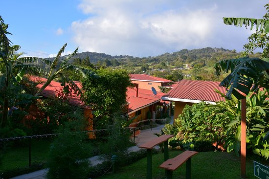 Hotel Cipreses Monteverde Costa Rica: Courtyard and beyond - view from the room