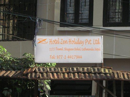 Hotel Zen Holiday: Hotel Signboard