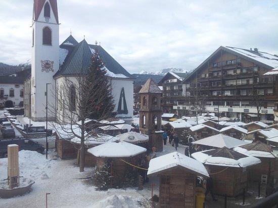 Krumers Post Hotel & Spa: Ausblick von der Suite Tagsüber
