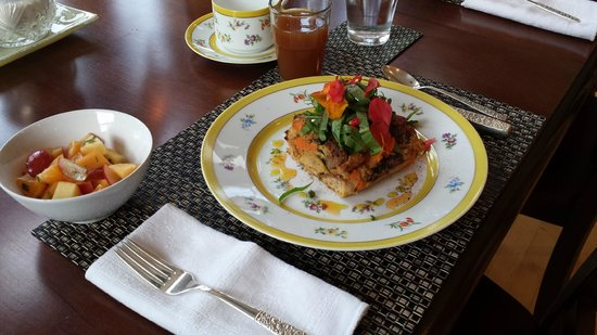 Whidbey Island Bed & Breakfast: Our delectable breakfast.