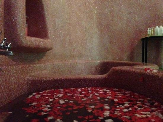 Wellbeing spa: the flower bath, part of the traditional treatment