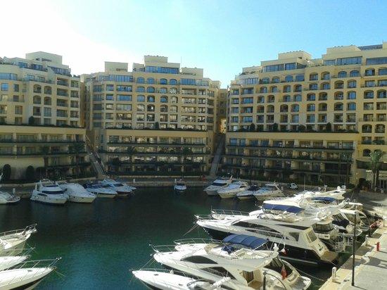 Hilton Malta: View from room (1st floor/Marina view)