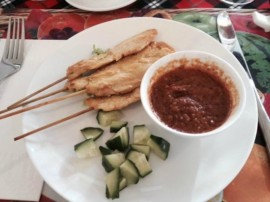 Le Lotus Restaurant : brochettes poulet