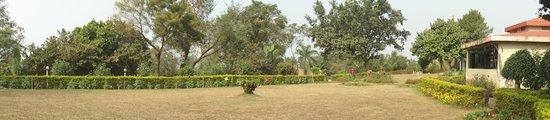 Peerless Resort, Mukutmonipur: The Garden in front of Room # 5 & 6