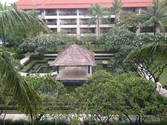 Conrad Bali: view from the room, Block C, garden view