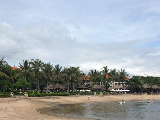 Conrad Bali: view from the beach