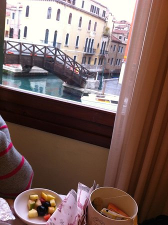 Arlecchino Hotel : view from the dining area on the 1st floor
