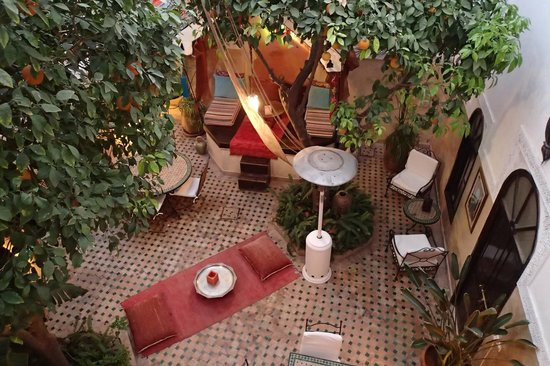 Riad Aguerzame: Patio seen from above