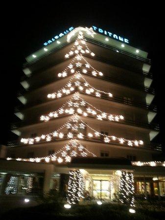 Hotel Terme Tritone Thermae & Spa: il tritone di notte l'11 01 ancora natalizio!
