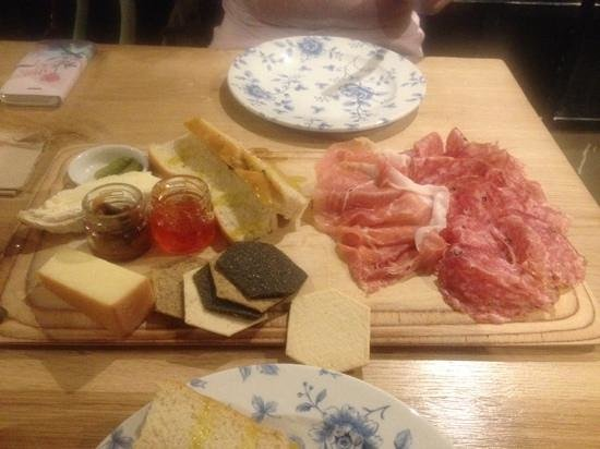 Friends of Ham: meat and cheese board