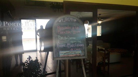 Hotel Porto Bari: Las comidas, un espectaculo