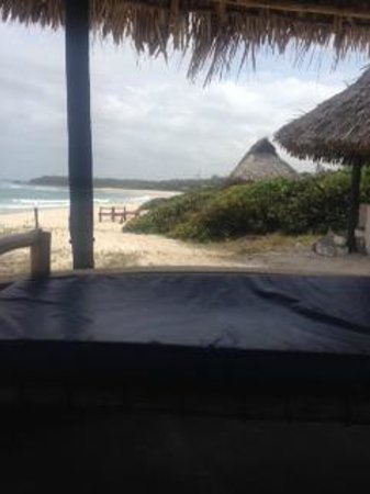 Changani Beach Cottages : beach from canopy