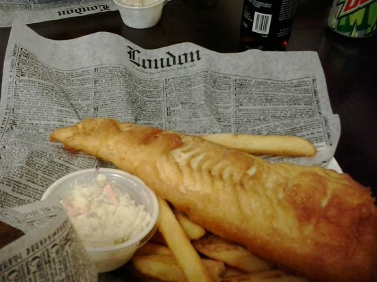 Pete's Fish and Chips: Large Cod & Chips