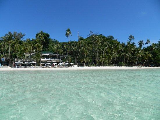 Jony's Beach Resort: Вид на кафе