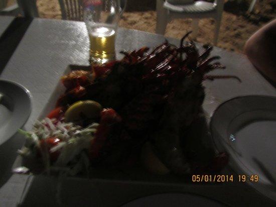 Kaz Kreol Restaurant & Beach Club: Лобстеры
