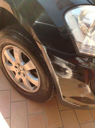 Hotel San Francesco: auto danneggiata