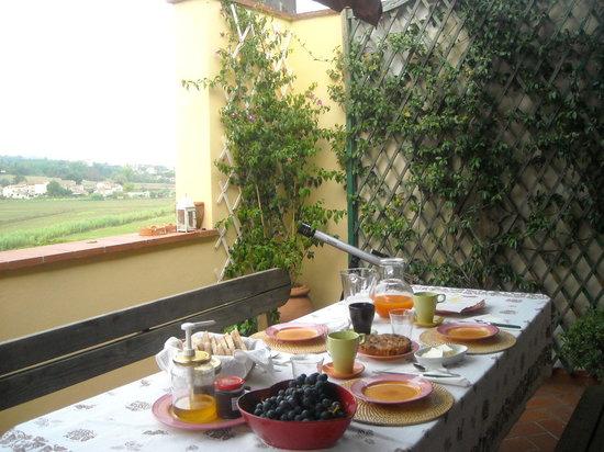B&B La Piccionaia: colazione in terrazzo