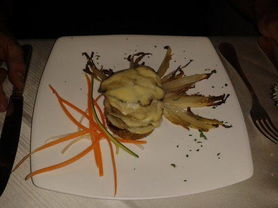 Osteria dell'Olmo: medaglioni di polenta taragna