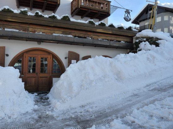 Hotel Natale ski room after snow was cleared!
