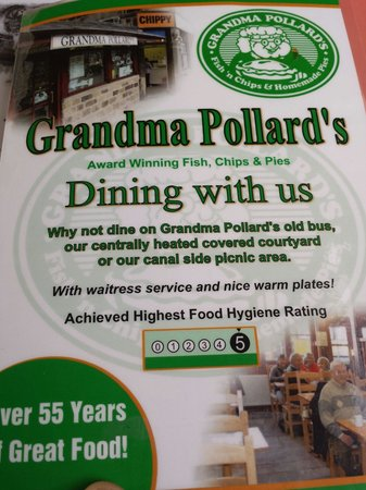 Grandma Pollards Chippy: The menu