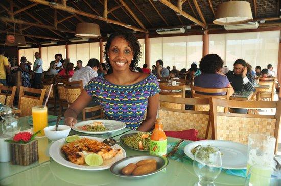 Cabana do Sol : Pescada com arroz de cuxá
