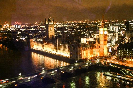 Vista de cima da London Eye