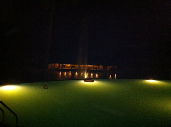 Coco Lagoon by Great Mount Resort: View from the pool at night