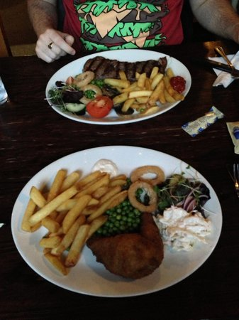 Masons Arms: Our food, steak and chicken kiev