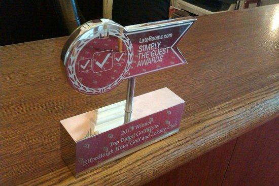 Elfordleigh Hotel : Awards