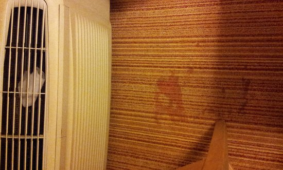 Regency Inn: Carpet in fron of A/C unit