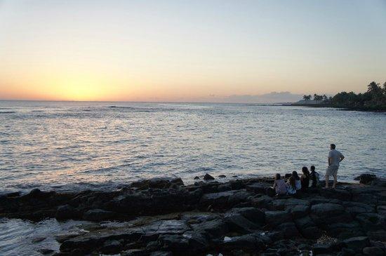 Beach House Restaurant: Sunset view
