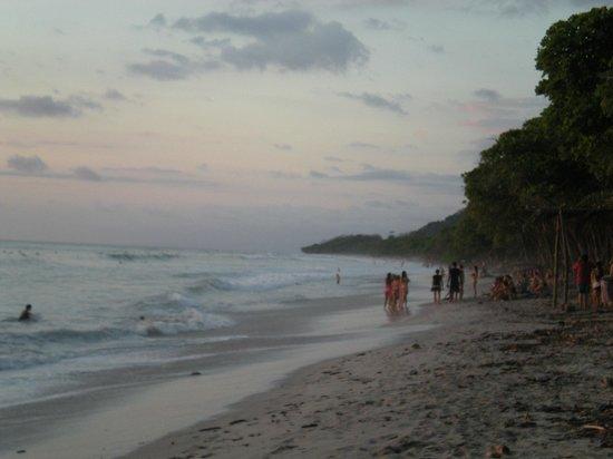 Playa Santa Teresa: beach at sunset