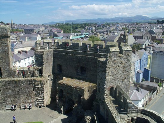 Caernarfon Castle: View from the towers