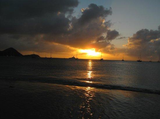 Tramonto a Rodney Bay